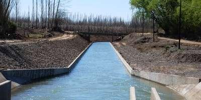 El sistema de riego de San Patricio del Chañar presenta un 87 por ciento de avance