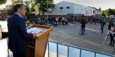 """Gutiérrez en Las Lajas: """"Este es un gobierno de diálogo permanente"""""""