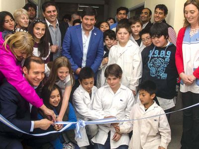 Inauguración de aulas en la Escuela 90 del paraje La Angostura.