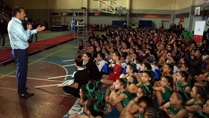 Apertura del campeonato nacional de gimnasia artística.
