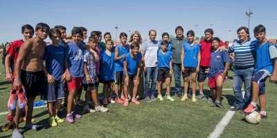 Funcionarios provinciales visitaron las instalaciones del Club Social y Deportivo San Lorenzo