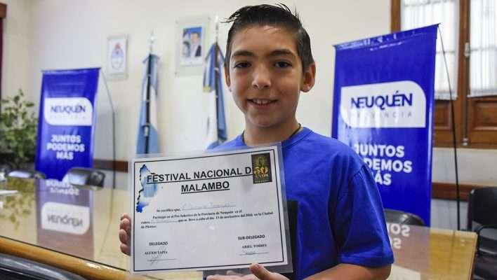 Jeremías Contreras representará a Neuquén en el Festival Nacional de Malambo de Laborde