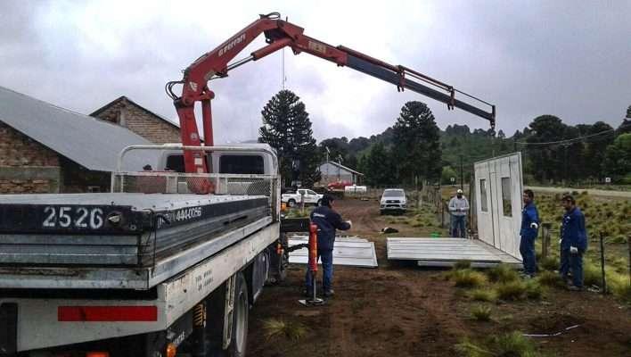 Reacondicionan el edificio de la Escuela Primaria N° 72 de Lonco Mula